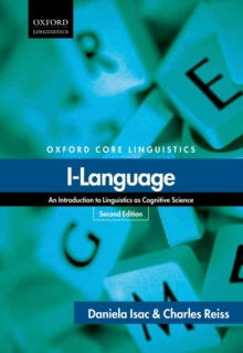 I-Language : An Introduction to Linguistics as Cognitive Science, Paperback / softback Book