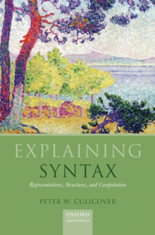 Explaining Syntax : Representations, Structures, and Computation, Hardback Book