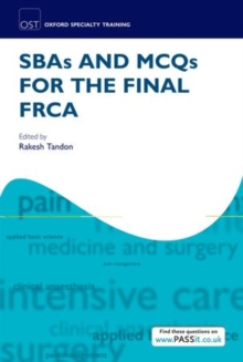 SBAs and MCQs for the Final FRCA, Paperback / softback Book