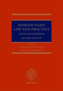 Domain Name Law and Practice : An International Handbook, Hardback Book