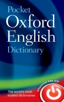 Pocket Oxford English Dictionary, Hardback Book