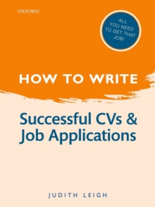 How to Write: Successful CVs and Job Applications, Hardback Book