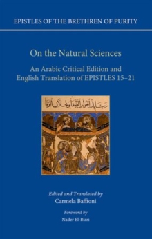 On the Natural Sciences : An Arabic critical edition and English translation of Epistles 15-21, Hardback Book