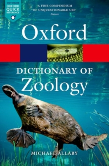 A Dictionary of Zoology, Paperback / softback Book