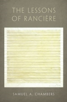 The Lessons of Ranciere, Hardback Book