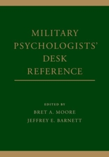 Military Psychologists' Desk Reference, Hardback Book