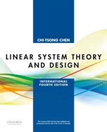Linear System Theory and Design : International Fourth Edition, Paperback / softback Book