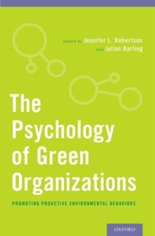 The Psychology of Green Organizations, Hardback Book