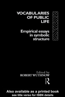 Vocabularies Of Public Life, PDF eBook