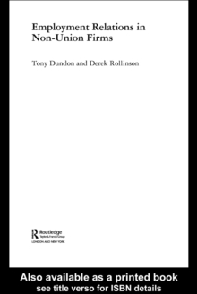 Employment Relations in Non-Union Firms, PDF eBook