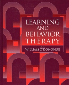 Learning and Behavior Therapy, Paperback Book