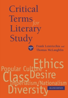 Critical Terms for Literary Study, Paperback Book