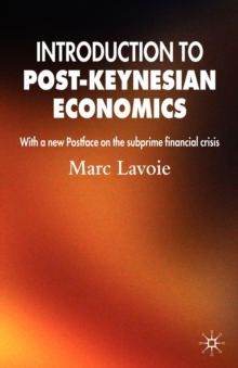Introduction to Post-keynesian Economics, Paperback Book