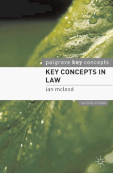 Key Concepts in Law, Paperback / softback Book