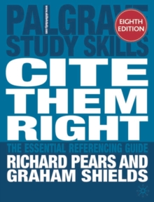 Cite Them Right The Essential Referencing Guide Pdf