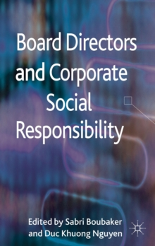 Board Directors and Corporate Social Responsibility, Hardback Book