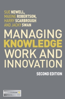 Managing Knowledge Work and Innovation, Paperback / softback Book
