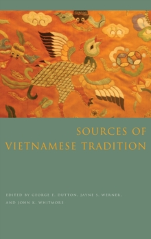 Sources of Vietnamese Tradition, Hardback Book