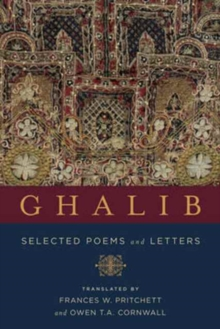 Ghalib : Selected Poems and Letters, Hardback Book