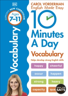 10 Minutes a Day Vocabulary : Ages 7-11, Paperback Book