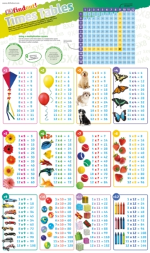 DKfindout! Times Tables Poster, Wallchart Book