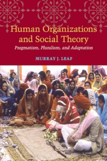 Human Organizations and Social Theory : Pragmatism, Pluralism, and Adaptation, Hardback Book