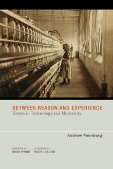 Between Reason and Experience : Essays in Technology and Modernity, Paperback Book