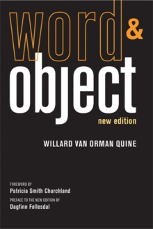 Word and Object, Paperback Book