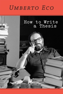 How to Write a Thesis, Paperback / softback Book