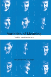 Varieties of Meaning : The 2002 Jean Nicod Lectures, Paperback / softback Book