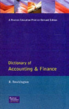 Dictionary Of Accounting And Finance, Paperback / softback Book