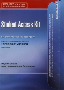 Principles of Marketing Student Access Card, Digital product license key Book