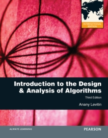 Introduction to the Design and Analysis of Algorithms : International Edition, Paperback Book
