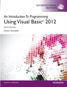 An Introduction to Programming with Visual Basic 2012, International Edition, Mixed media product Book