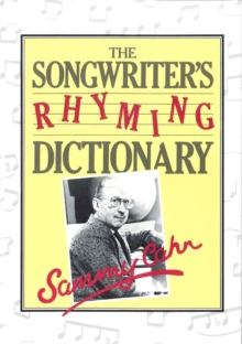 Songwriter's Rhyming Dictionary, Paperback Book