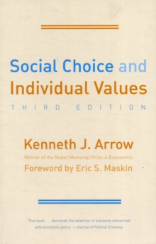 Social Choice and Individual Values, Paperback / softback Book