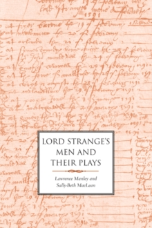 Lord Strange's Men and Their Plays, EPUB eBook