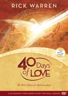 40 Days of Love : We Were Made for Relationships, DVD video Book