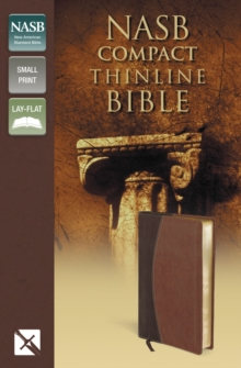 NASB, Thinline Bible, Compact, Leathersoft, Brown, Red Letter Edition, Leather / fine binding Book