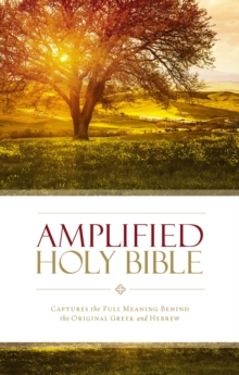 Amplified Holy Bible, Hardcover : Captures the Full Meaning Behind the Original Greek and Hebrew, Hardback Book