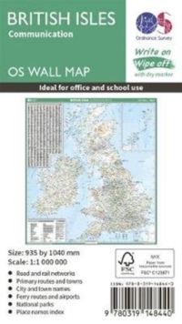 British Isles Communication, Sheet map, rolled Book