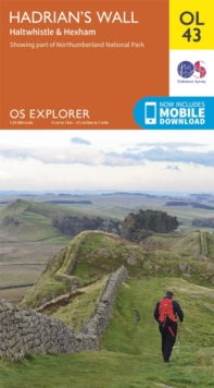 Hadrian's Wall, Haltwhistle & Hexham, Sheet map, folded Book