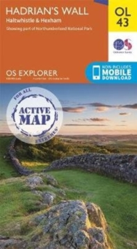 Hadrian's Wall : Haltwhistle & Hexham, Sheet map, folded Book