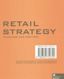 Retail Strategy : Planning and Control, Paperback Book