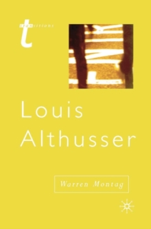 Louis Althusser, Paperback / softback Book