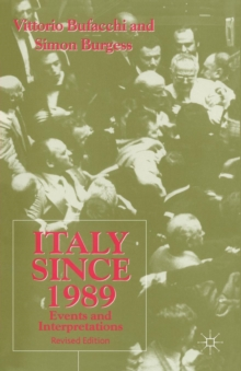 Italy since 1989 : Events and Interpretations, Paperback / softback Book