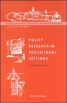 Policy Research in Educational Settings, Paperback / softback Book