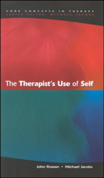 The Therapist's Use Of Self, Paperback / softback Book