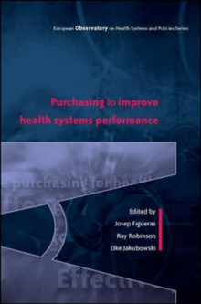 Purchasing to Improve Health Systems Performance, Paperback / softback Book