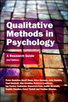 Qualitative Methods In Psychology: A Research Guide, Paperback / softback Book